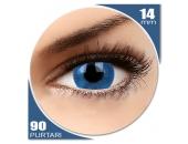 Basic Blue - lentile de contact colorate albastre trimestriale - 90 purtari (2 lentile/cutie)