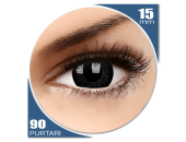 Big eyes Dolly Black - lentile de contact colorate negre trimestriale - 90 purtari (2 lentile/cutie)