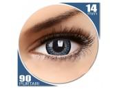 Elegance Blue - lentile de contact colorate albastre trimestriale - 90 purtari (2 lentile/cutie)