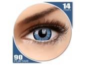Glamour Aqua - lentile de contact colorate albastre trimestriale - 90 purtari (2 lentile/cutie)