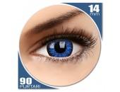 Glamour Blue - lentile de contact colorate albastre trimestriale - 90 purtari (2 lentile/cutie)