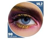 Edit Mystic Blue - lentile de contact colorate albastre trimestriale - 90 purtari (2 lentile/cutie)