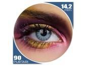 Edit Solar Blue - lentile de contact colorate albastre trimestriale - 90 purtari (2 lentile/cutie)