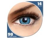 Vivid Blue - lentile de contact colorate albastre trimestriale - 90 purtari (2 lentile/cutie)