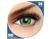 Vivid Green - lentile de contact colorate verzi trimestriale - 90 purtari (2 lentile/cutie)