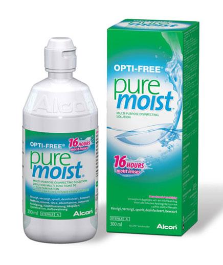 Solutie intretinere lentile de contact Opti-Free Pure Moist 300 ml + suport lentile cadou